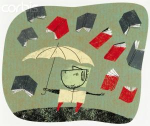raining books --- Image by © Images.com/Corbis